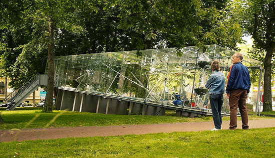The Tschumi Pavilion in Groningen